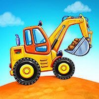 Truck games for kids - build a house car wash