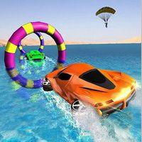Floating Water Surfer Car Driving