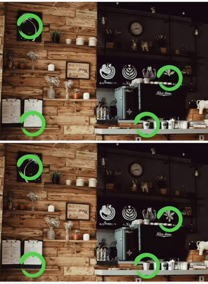 Find The Differences The Detective Answers Familiar Cafe Level